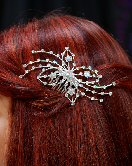 Clear Crystal Bridal Comb
